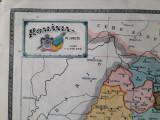 """Harta """"România pe județe"""" din atlasul C. Teodorescu 1924"""