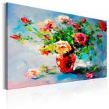 Tablou pictat manual - Trandafiri frumoase - 120 x 80 cm, Artgeist