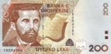 ALBANIA █ bancnota █ 200 Leke █ 2007 █ P-71a █ UNC █ necirculata