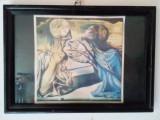 Salvador Dali litografie Tristan si Isolda reproducere