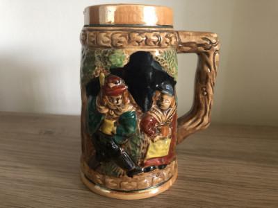 Halba de bere veche,japoneza,ceramica pictata foto