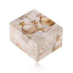 Cutiuță de cadouri pentru Craciun - inel, cercei sau pandantiv, Merry Christmas