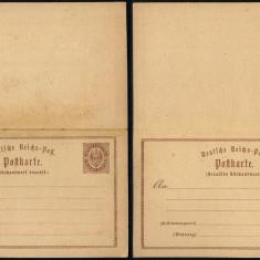 Germany - Postal History Rare Old Postcard + Reply UNUSED DB.221