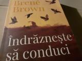 INDRAZNESTE  SA CONDUCI - BRENE BROWN, ED CURTEA VECHE 2019, 383 PAG