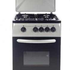 Aragaz pe gaz Serreno SER 5601S/G1, 4 arzatoare, dispozitiv siguranta plita si cuptor, latime 50 cm
