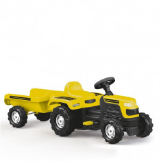 Tractor cu remorca Dolu - Galben