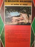 Reclamă turistică Sucevița, Ilișești, Casa Hanul Arcașului, 1982, 24 x 16,5 cm
