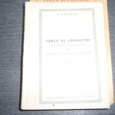 Table de logaritmi – D. Danescu