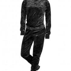 Set bluza si pantaloni de catifea dama, negru, marimea S