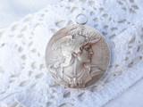 MEDALION opulent MARIANNE simbol FRANTA vintage SPLENDID vechi DE EFECT masiv