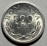 500 Lei 1946 Al, Romania, a UNC, Luciu de batere, Aluminiu