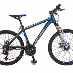 Bicicleta MTB HT 24 FIVE Lagoon cadru aluminiu culoare negru albastru
