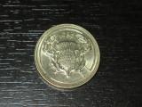 Moneda comemorativa 2 lire Anglia 1986, stare buna