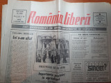 Ziarul romania libera 9 ianuarie 1990 (revolutia )