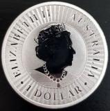 AUSTRALIA 1 Dollar 2020 Kangaroo Cangurul Argint pur 999 Oz 1 Uncie UNC 31.1 gr., Australia si Oceania