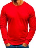 Hanorac fără glugă bărbați roșu Bolf 22003
