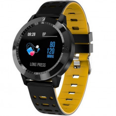 Bratara Fitness iUni CF58, Display OLED, Bluetooth, Pedometru, Monitorizare Puls, Notificari, Galben