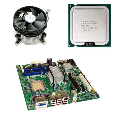 Placa de baza Refurbished Intel DQ45CB, Core 2 Quad Q8200, Cooler foto