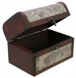 Cufar pentru bijuterii lemn cu print retro-style 160 x 110 x 100 mm - Mica, SAFE