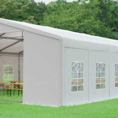 10X20m CORT de EVENIMENTE PROFESSIONAL PVC 550 g/m² ignifug alb, inaltime 3,0m