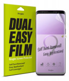 Cumpara ieftin Folie Silicon Premium Full Cover Dual Easy Film Ringke Samsung S9+ Plus Transparenta