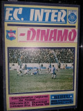 Revista/Brosura veche  F.C.INTER-DINAMO 1986,de Colectie T.GRATUIT