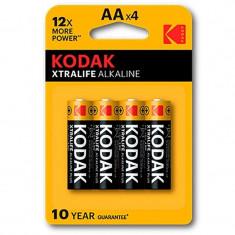 Set 4 Baterii Alcaline Kodak AA XTRALIFE 1,5V