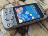 TELEFON DE COLECTIE NOKIA 6600I SLIDE ARGINTIU FUNCTIONAL SI DECODAT+INCARCATOR