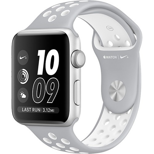 Watch 2 Nike+ Aluminiu Si Curea Silicon Argintiu 42MM