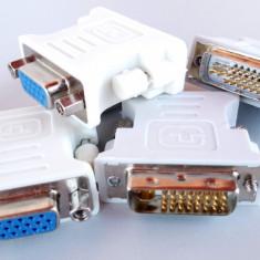 adaptor convertor DVI tata - VGA mama pentru monitor videoproiector TV