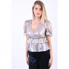 Bluza Eleganta Object Janlie Argintiu