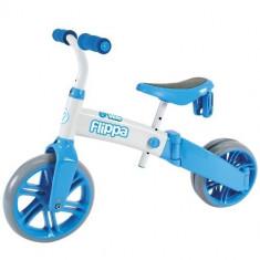 Ybike Yvelo Flippa 2in1 blue tricicleta si bicicleta fara pedale