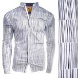 Camasa pentru barbati flex fit bleumarin casual cu guler sedna matrix