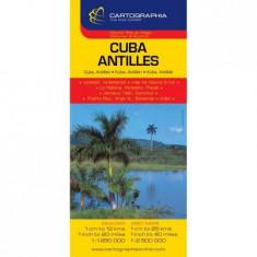 Harta rutiera Cuba,Ins.Antile |