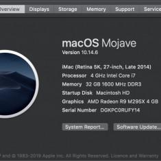 IMac (Retina 5K, 27-inch, 2015) i7-4Ghz, 32Gb RAM, Radeon R9 M295X - 4 GB