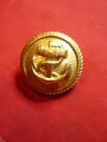Nasture pt Uniforma Militara Marina Germana ,bronz aurit ,d=2,3cm