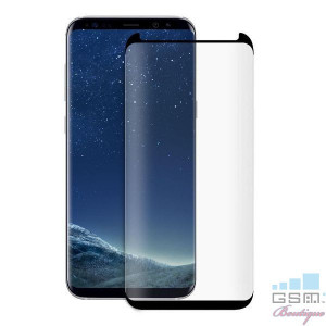 Folie Sticla Protectie Display Samsung Galaxy S8 Acoperire Completa Neagra 6D