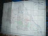 Harta mare a Judetului IASI 1986 , dim.=142x106cm , RSR Inst. Geodezie