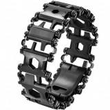 Curea ceas multifunctionala 29 in 1 Apple Watch Black iUni 42mm Otel Inoxidabil