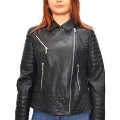 Haina dama, din piele naturala, marca Kurban, BAYAN-01-95, negru