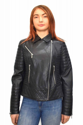 Haina dama, din piele naturala, Kurban, BAYAN-01-95, negru foto