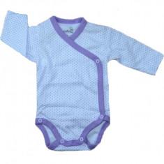 Body cu maneca lunga bebelusi Pifou Model 10ML-4, Alb