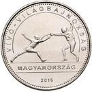 Ungaria 50 Forint 2019 (Scrima) 27.4 mm, CL19, KM-New UNC !!!, Europa, Cupru-Nichel