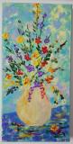 Flori de mai - pictura manuala, Acrilic, Art Deco