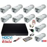 Cumpara ieftin Kit supraveghere video profesional 10 camere Rovision OEM DAHUA 2MP IR 80m , accesorii incluse, DVR 16 canale 5MP