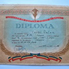 Diploma veche, perioada comunista, RPR: Cupa 1 Mai, Timisoara 1959