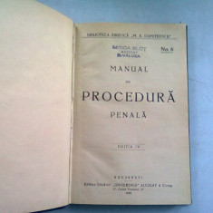 MANUAL DE PROCEDURA PENALA