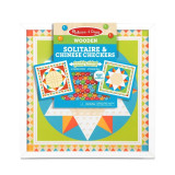 Joc de societate 2 in 1 Solitaire si Sah chinezesc Melissa & Doug, 6 ani+
