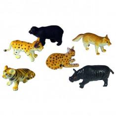 Jucarie Set 6 animale salbatice din plastic
