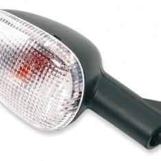 Lampa semnalizare moto fata spate, stanga dreapta (culoare alba) APRILIA RS, TUONO; MALAGUTI F12; MOTO GUZZI BREVA, V11; MZ MUZ 1000, SM, SX 50-1100 d